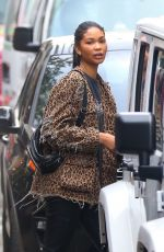CHANEL IMAN Out and About in New Yrok 11/09/2017