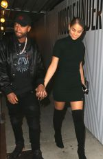 CHANTEL JEFFRIES Arrives at Bootsy Bellows in Los Angeles 11/04/2017