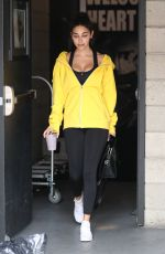 CHANTEL JEFFRIES Leaves a Gym in Los Angeles 10/31/2017