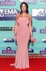 CHARLOTTE CROSBY at 2017 MTV Europe Music Awards in London 11/12/2017