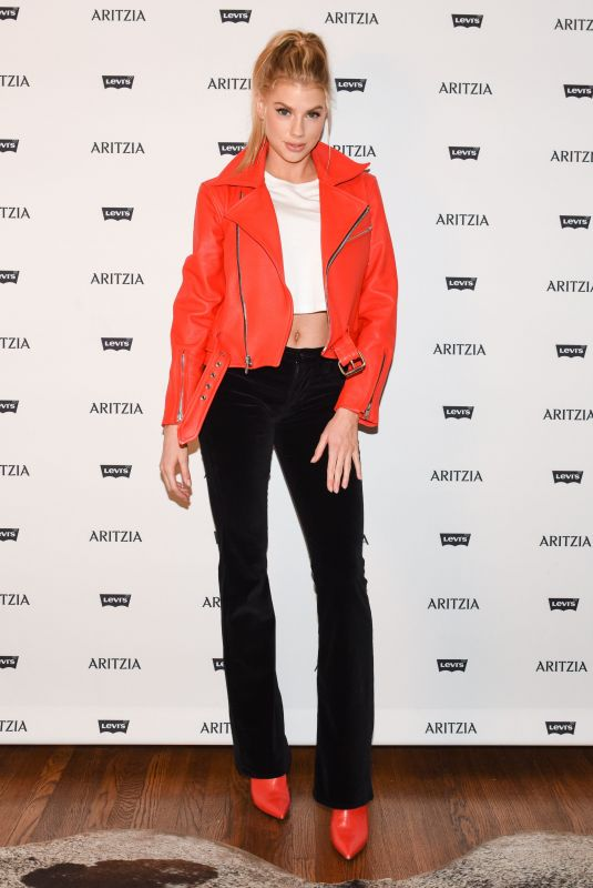 CHARLOTTE MCKINNEY at Levi's by Aritzia Collection Launch in Los Angeles 11/16/2017