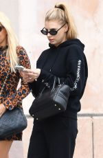 CHARLOTTE MCKINNEY Out and About in Beverly Hills 10/31/2017