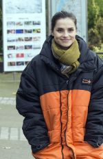 CHARLOTTE RILEY on the Set of Press in London 11/16/2017