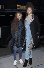 CHLOE and HALLE BAILEY Arrives at AOL Build in New York 11/17/2017