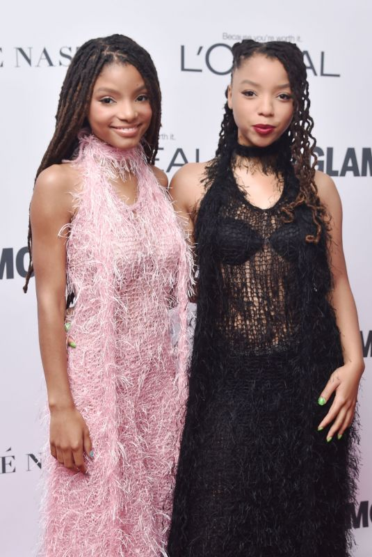 CHLOE and HALLE BAILEY at Glamour Women of the Year Summit in New York 11/13/2017