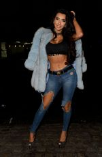 CHLOE KHAN in Ripped Jeans Night Out in Liverpool 11/07/2017