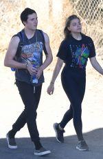 CHLOE MORETZ and Brooklyn Beckham Out Hikking in Santa Barbara 11/26/2017