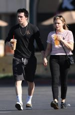 CHLOE MORETZ and Brooklyn Beckham Out in Los Angeles 11/24/2017