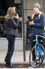 CHLOE MORETZ and Brooklyn Beckham Out in New York 11/14/2017