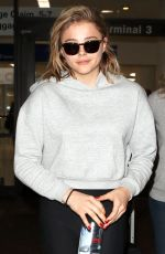 CHLOE MORETZ at LAX Airport in New York 11/29/2017