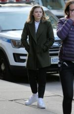 CHLOE MORETZ on the Set of The Widow in New York 11/11/2017