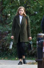 CHLOE MORETZ on the Set of The Widow in New York 11/12/2017