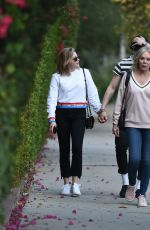 CHLOE MORETZ Out with Her Mom and Brooklyn Beckham in Los Angeles 11/18/2017