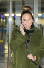 CHRISSY TEIGEN at Los Angeles International Airport 11/06/2017