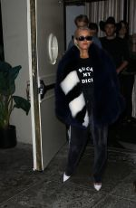 CHRISTINA AGUILERA Leaves Delilah in Los Angeles 11/03/2017