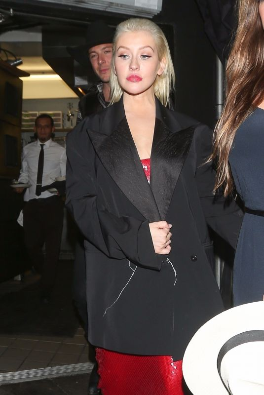 CHRISTINA AGUILERA Night Out in West Hollywood 11/20/2017