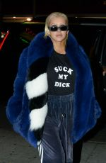 CHRISTINA AGUILERA Out for Dinner in Hollywood 11/03/2017