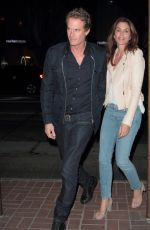 CINDY CRAWFORD and Rande Gerber at Madeo Restaurant 11/08/2017