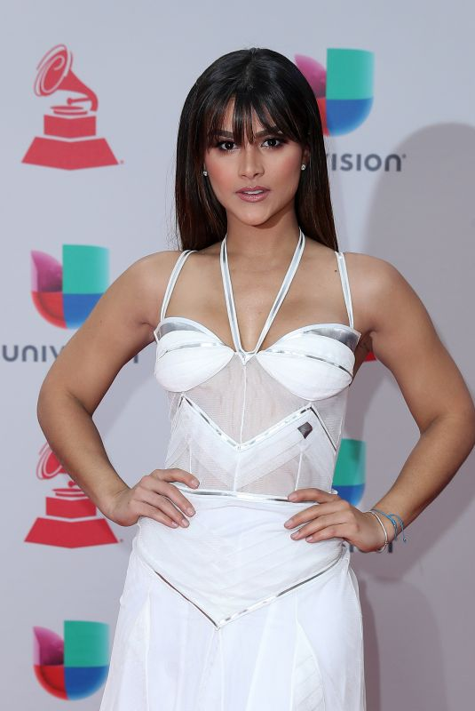 CLARISSA MOLINA at Latin Grammy Awards 2017 in Las Vegas 11/16/2017