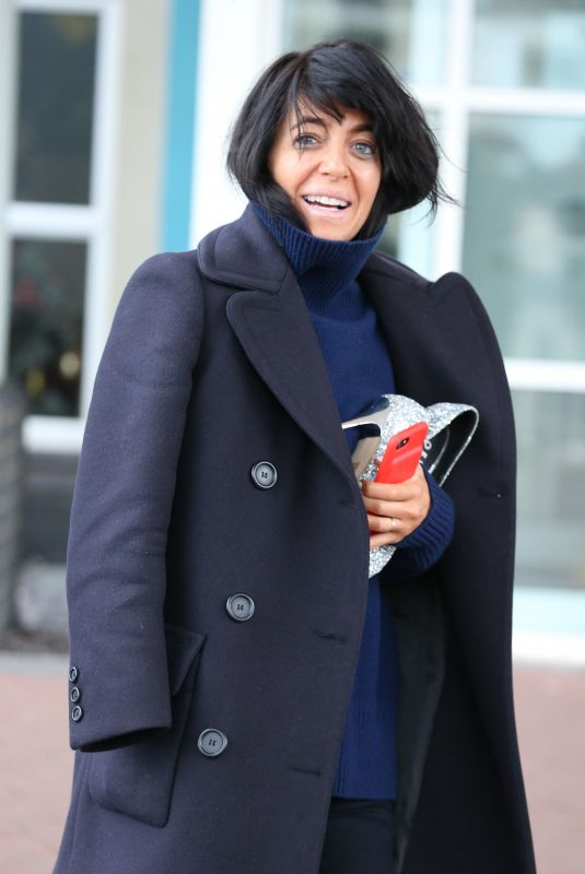 CLAUDIA WINKLEMAN Leaves Her Hotel in Blackpool 11/18/2017