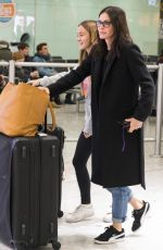 COURTENEY COX at Heathrow Airport in London 11/18/2017