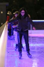 COURTENEY COX Ice Skating at Natural History Museum Ice Rink in London 11/21/2017