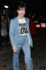 DAISY LOWE Leaves Choose Love Event in London 11/23/2017