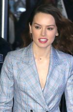 DAISY RIDLEY Arrives at Good Morning America in New York 11/28/2017