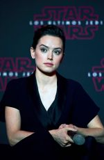 DAISY RIDLEY at Star Wars: The Last Jedi Press Conference in Mexico City 11/21/2017