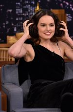 DAISY RIDLEY at Tonight Show Starring Jimmy Fallon in New York 11/28/2017