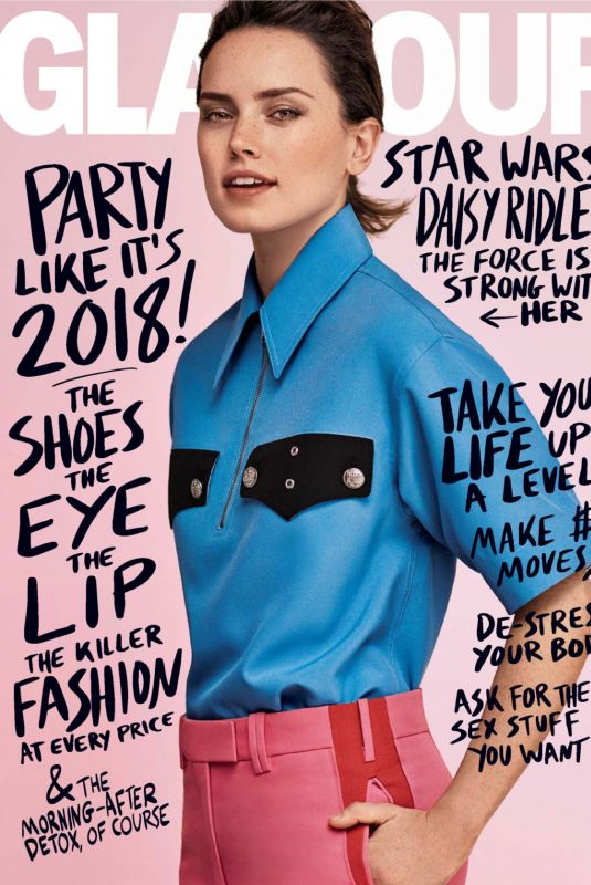 DAISY RIDLEY in Glamour Magazine, January 2018 Issue