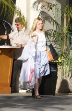 DAKOTA and ELLE FANNING Out in Los Angeles 11/25/2017