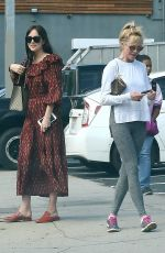 DAKOTA JOHNSON and MELANIE GRIFFITH Out for Coffee in West Hollywood 09/14/2017