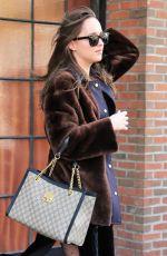 DAKOTA JOHNSON Leaves Her Hotel in New York 11/03/2017