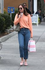 DAKOTA JOHNSON Out for Coffee Out in Los Angeles 11/12/2017