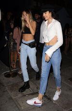 DALILAH and AMELIA HAMLIN at Poppy Nightclub in West Hollywood 10/30/2017