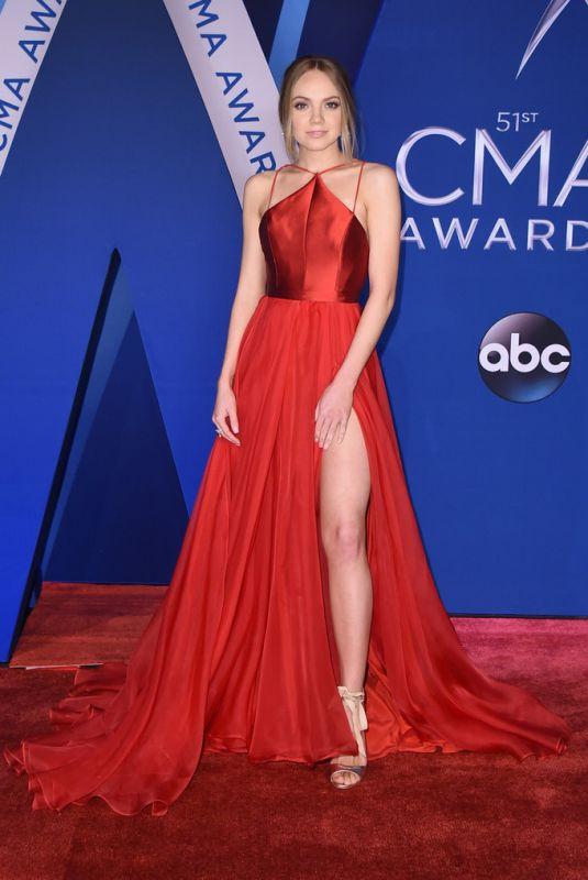 DANIELLE BRADBERY at 51st Annual CMA Awards in Nashville 11/08/2017