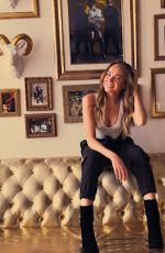 DANIELLE BRADBERY on the Set of a Photoshoot at Tidal Office, 2017