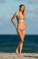 DANIELLE KNUDSON and MELODY DE LA FEE in Bikinis at a Beach in Miami 11/10/2017