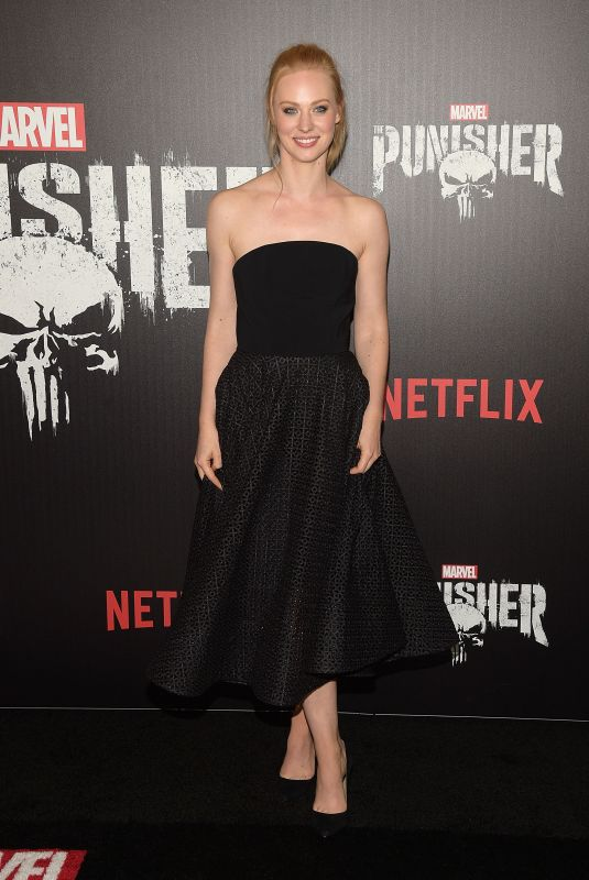 DEBORAH ANN WOLL at The Punisher Premiere in New York 11/06/2017