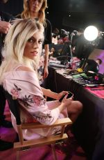 DEVON WINDSOR on the Backstage at 2017 VS Fashion Show in Shanghai 11/20/2017