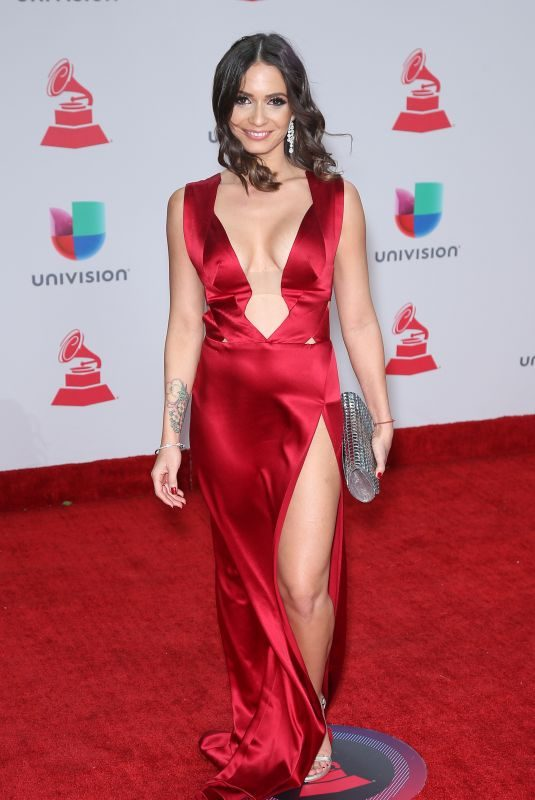 DIANA FUENTES at Latin Grammy Awards 2017 in Las Vegas 11/16/2017
