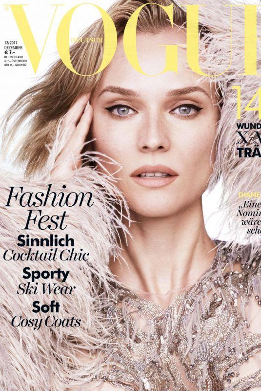 DIANE KRUGER in Vogue Magazine, Germany December 2017