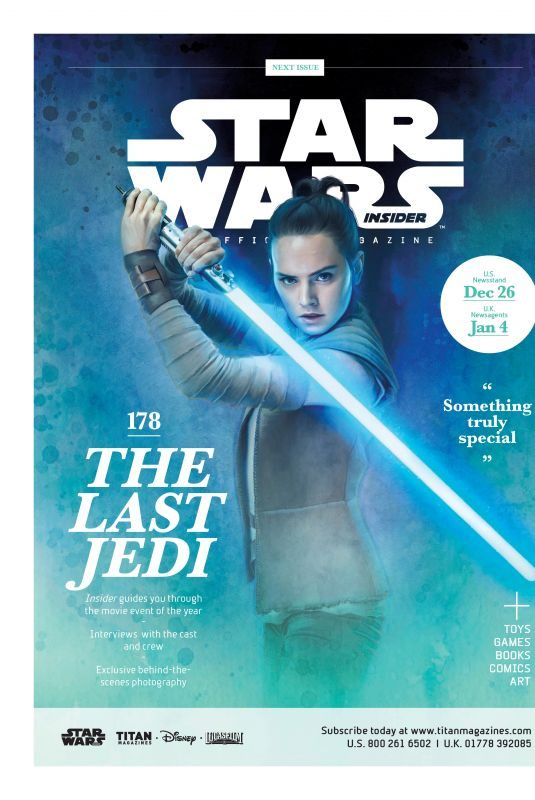DIASY RIDLEY in Star Wars Insider Issue, December 2017