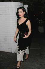 DITA VON TEESE at Chateau Marmont in Los Angeles 11/16/2017