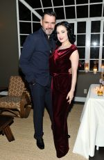 DITA VON TEESE at Roland Mouret's Dinner of Love in Los Angeles 11/06/2017