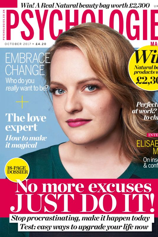 ELISABETH MOSS in Psychologies Magazine, October 2017
