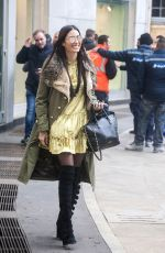 ELISABETTA GREGORACI Out and About in Milan 11/24/2017
