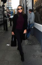ELIZABETH HURLEY Arrives at Molinare Production Company in London 11/04/2017
