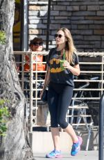 ELIZABETH OLSEN Out for Breakfast at Kreation in Los Angeles 11/05/2017